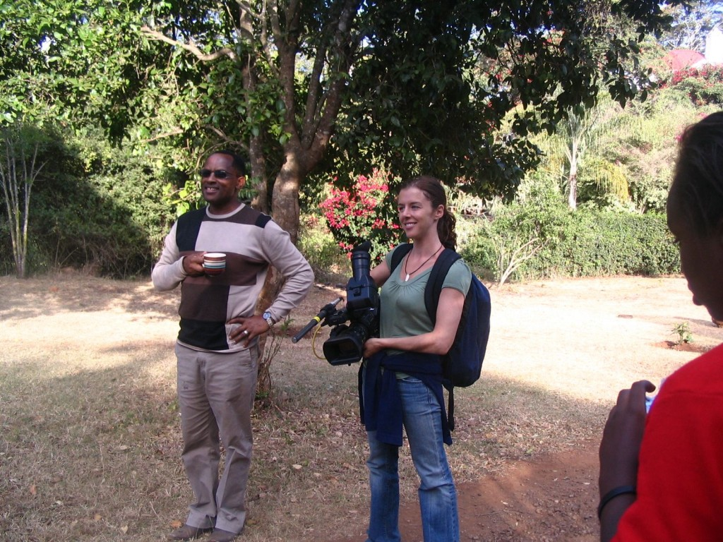 Introducing Graceland Girls School founder, Nderitu Wachira, to the Graceland Photography class on our way to a nature photo lesson.  The school is named after Wachira's mother, Grace who inspired him and his siblings to get an education.