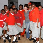 Saying goodbye to the Graceland Girls in the Nyeri District before heading off to the Maasai Mara.